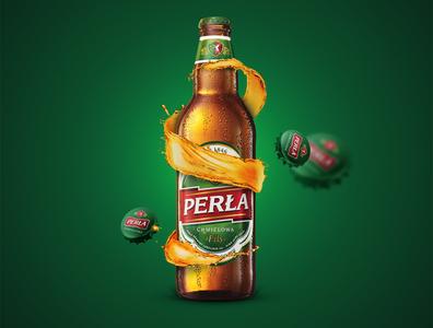 Perła – Browary Lubelskie keyvisual visual design visual art visual promo mark logo brand design brand beer art beer key visual branding design
