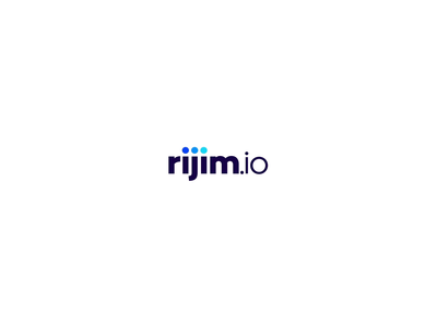 rijim.io identity icon application typography vector mark logo illustration branding design