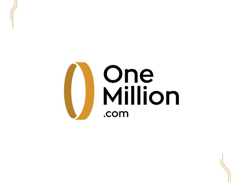OneMillion Logo crypto wallet crypto lifting rebrand rebranding idenity brand design logo design typography branding design logo