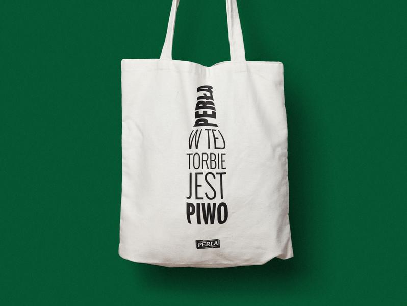 Shopping Bag. Perła promo mark identity brand beer branding beer art beer shopping bag shopping bag typo typography illustraion illustrator vector logo branding design