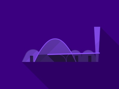 Brazil 2014 Host Cities - Belo Horizonte - Igreja da Pampulha flat long-shadow brasil brazil architecture icon poster