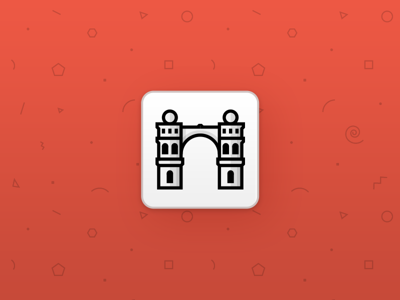 Kamapu City Guides - Córdoba city icon line icon tourism flat app