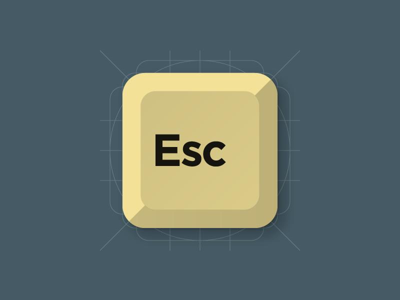 Escape! flat icon material design material