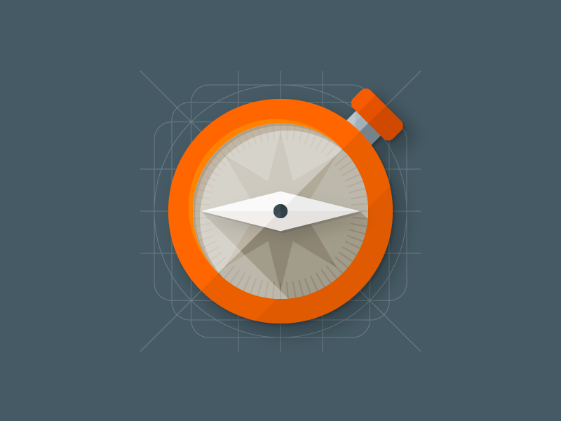 Compass Icon location compass flat icon material design material