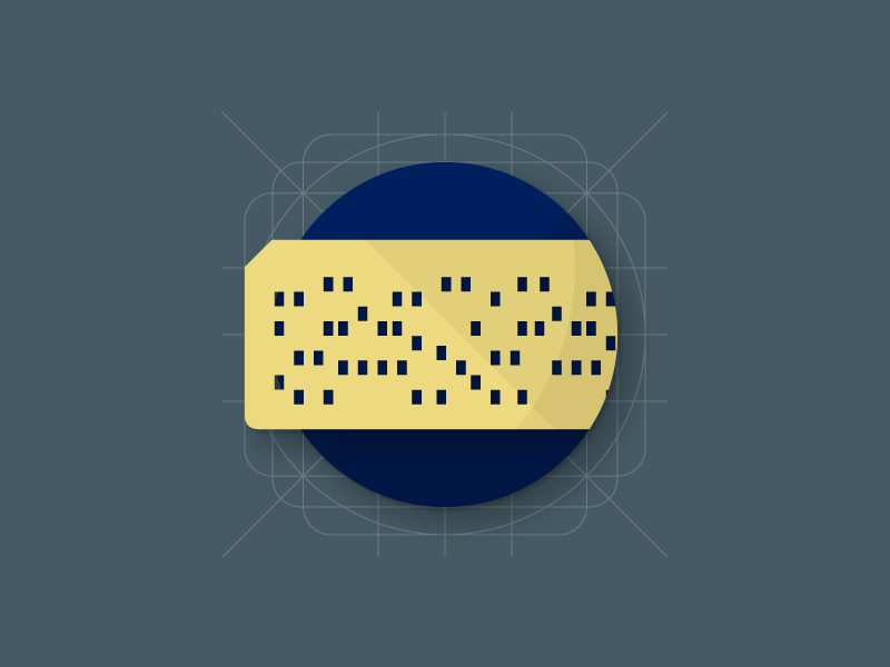 Punched Card computer punched card flat icon material design material