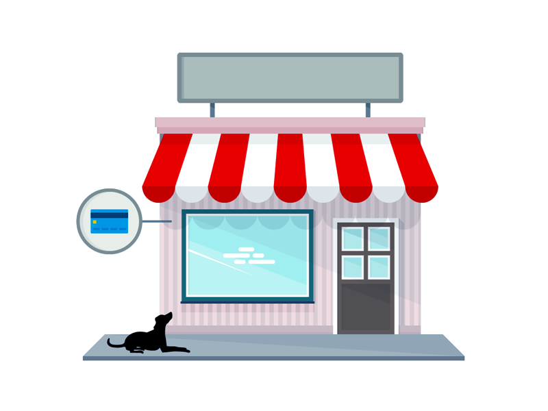 Small Shop - Illustration dog icon illustration shop vector