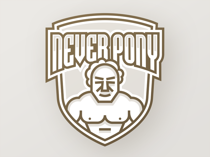 Never Pony icons badge illustration vector icon