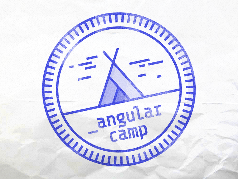 Angular Camp logo application branding flat vector illustration badge seal logotype logo