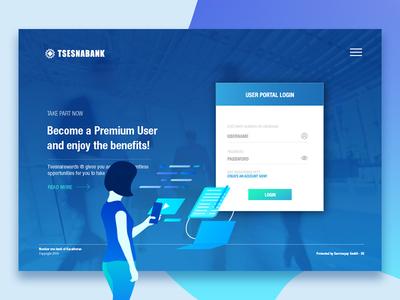 Tsesnabank Splash Screen