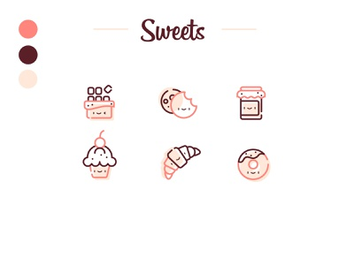 Sweet icons 🍩 food sweets icon dribbble uidesign ui illustration vector design