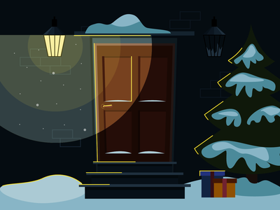 Christmas time 🌲 gifts new year christmas dribbble uidesign ui illustration vector design