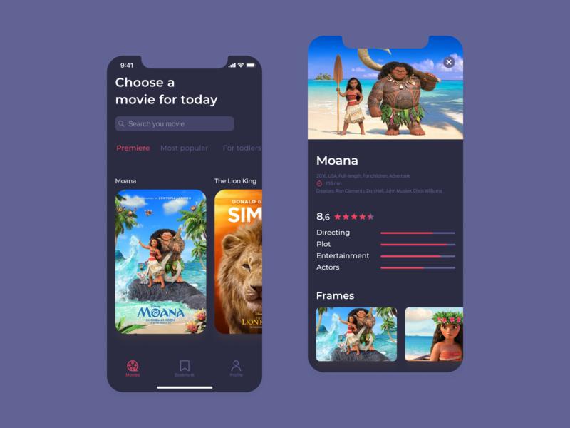 Movies for children 👼 baby children ios app dribbble uidesign ui illustration vector design
