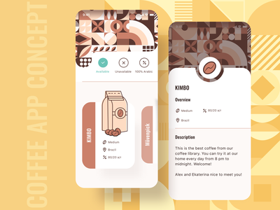 coffee app concept abstract background abstract art abstract design abstract coffee bean coffeeconcept coffee shop coffeeapp coffee breakfast food ios app dribbble uidesign ui illustration vector design