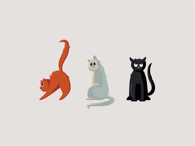 What cat are you today? pixel animals uidesign dribbble design ui illustration vector