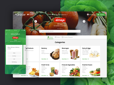 El Grocer Dribbble Shot ios delivery app delivery ux ui app shopping shop online grocery shopping food app food products online grocery grocery