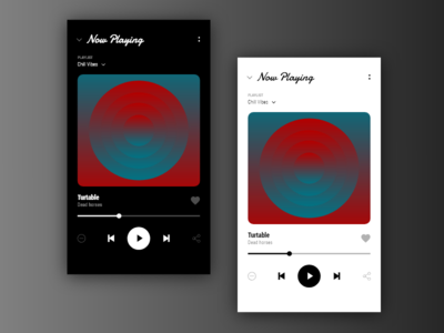 [1/11] [mobile design] music player