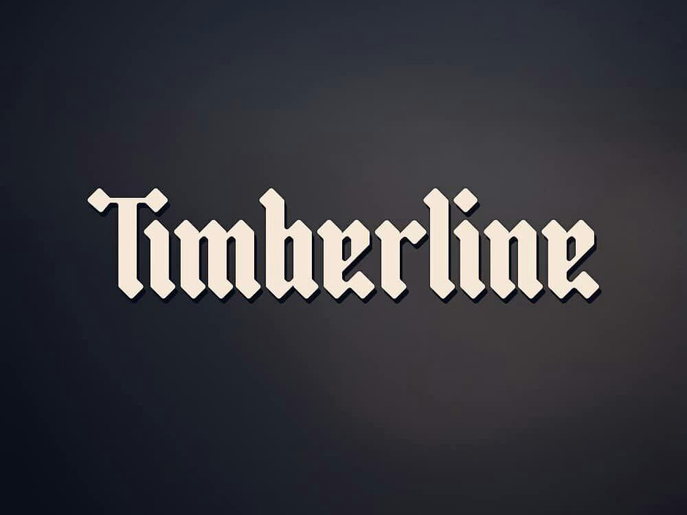 Timberline Logotype design inspiration type gothic font black letter typo logo typogaphy logotype idea logo