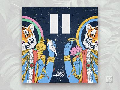 Cover art • II - Hoka Hey italian rock tiger illustration recordings album coverart alternative indie rock music
