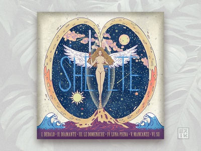 SHELTE 🗡🏆 - Hoka Hey EP Cover shelte hokahey photoshop drawing ep music rock coverart cover illustration