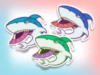 Space Shark stickers