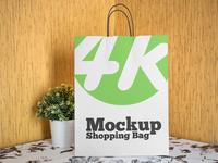 Free Shopping Bag v02 PSD MockUp in 4k