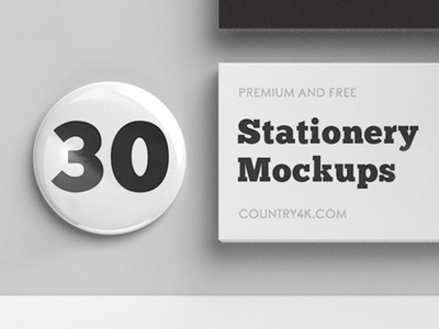 30 Premium and Free Stationery Mockups in PSD