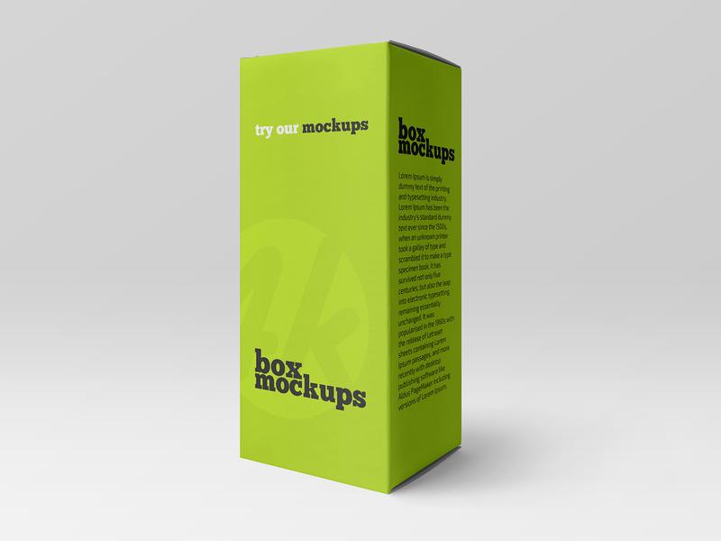 Free Matte Paper Box Mockup realistic minimalism carton cardboard package branding packaging box paper freebie mockup free