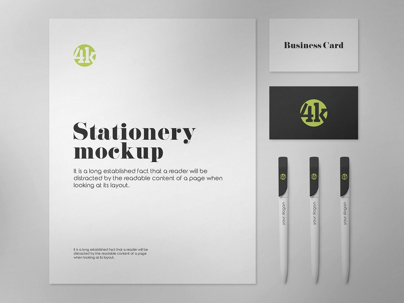 2 Free US Stationery Mockups us letter stationery paper office identity corporate company business card branding freebie mockup free