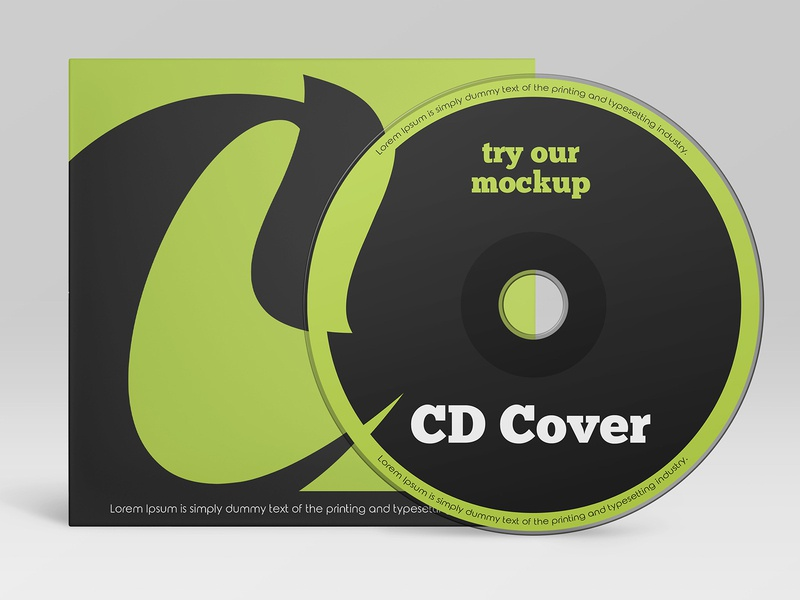Free CD Cover Mockup case technology computer office disc cover dvd cd cardboard freebie mockup free