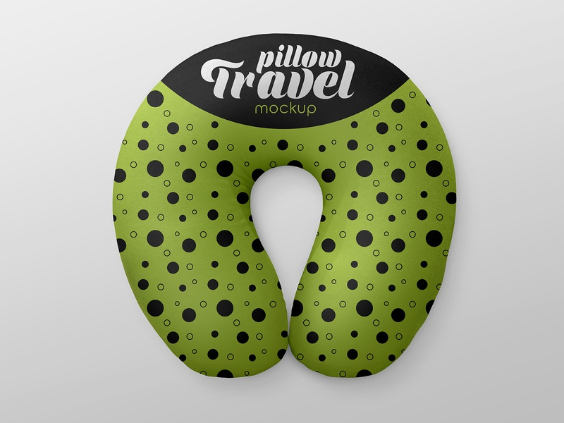 2 Free Travel Pillow Mockups sleep travel pillow fashion fabric cushion cloth accessory mockups freebie mockup free