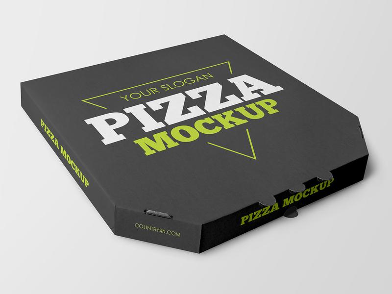 2 Free Pizza Box Mockups package fast food food delivery cardboard pizza box pizza box mockups freebie mockup free