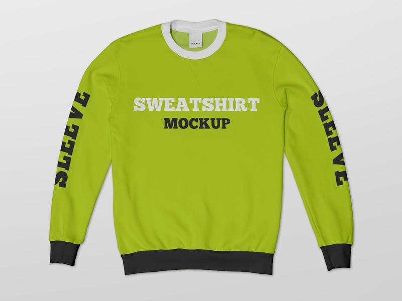 2 Free Crew Neck Sweatshirt Mockups streetwear pullover fashion crewneck clothing clothes casual apparel mockups freebie mockup free
