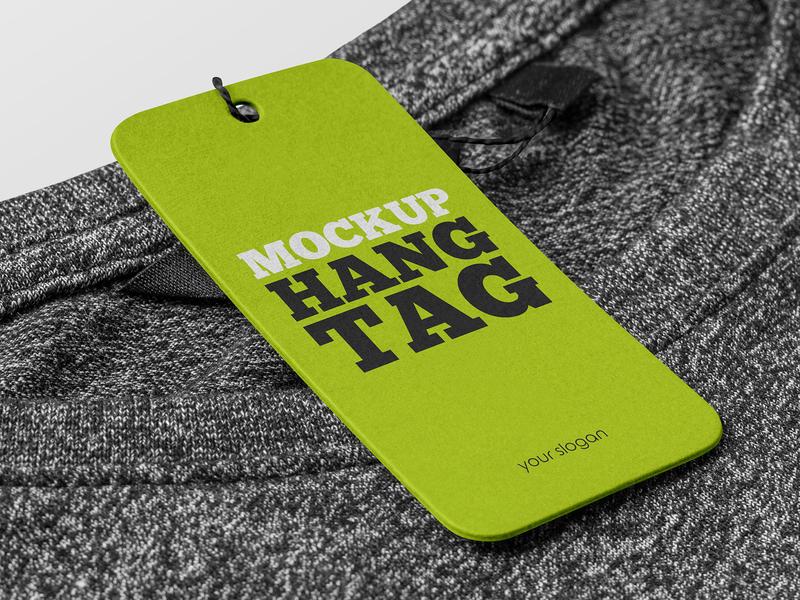3 Free Hang Tag Mockups label discount clothing clothes brand hang tag apparel tag logo mockups freebie mockup free