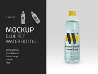 Blue PET Water Bottle Mockup Set sport fresh label mineral drink plastic water bottle bottle pet water mockups mockup