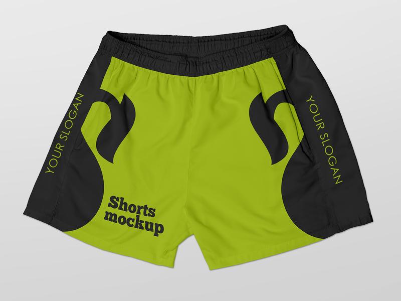 Free Shorts Mockup pants apparel wear short shorts boxer clothes sport fashion freebie free mockup