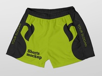 Free Shorts Mockup pants apparel wear short shorts boxer clothes sport fashion freebie free mockup