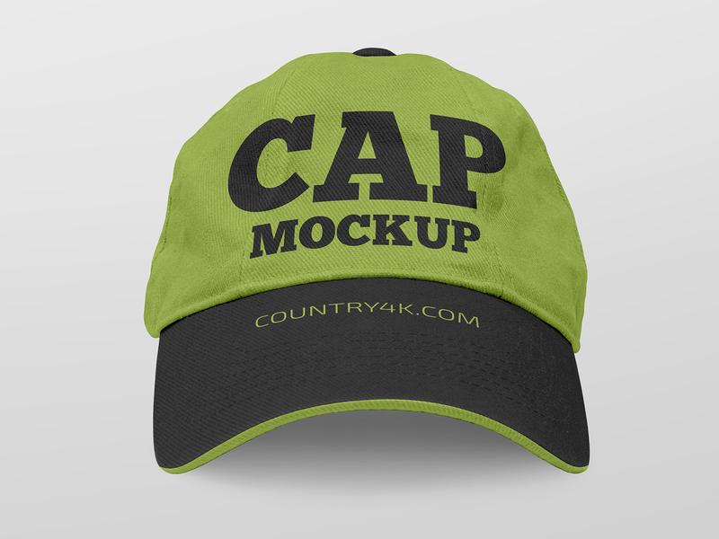2 Free Cap Mockups sport fashion accessory wear clothes clothing hat cap mockups freebie mockup free