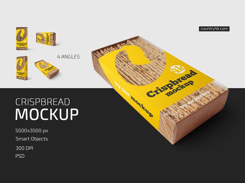 Crispbread Mockup Set packaging package pack bread label crackers mockups mockup