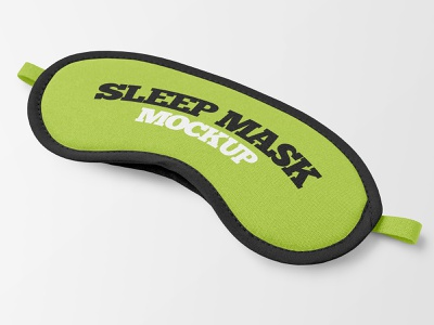 2 Free Sleep Mask Mockups comfort travel relax dream apparel accessory mask sleep mockups mockup freebie free
