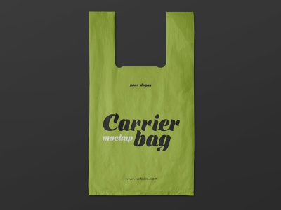 2 Free Plastic Carrier Bag Mockups shopping recycle plastic packaging container carrier branding bag mockups mockup freebie free