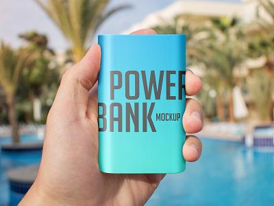 Power Bank Mockup Set usb recharge powerbank power bank power energy charger battery accumulator logo mockups mockup