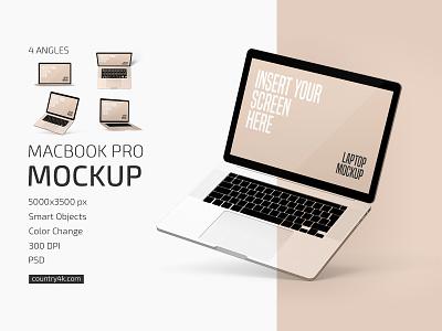 Macbook Pro Mockup Set notebook device screen macbook pro macbook laptop display desktop computer apple mockups mockup