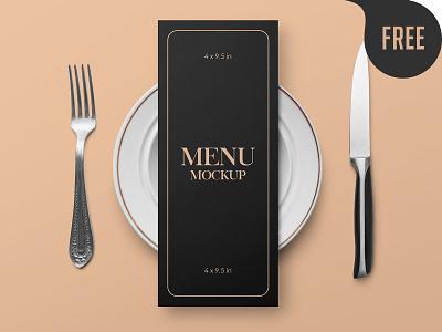 Free Restaurant Menu Card Mockup plate food cafe restaurant flyer invite card paper menu mockup freebie free