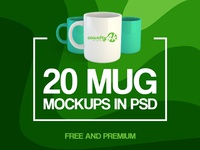 20 Free and Premium Mug MockUps in PSD