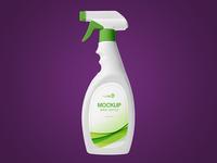 Free Spray Bottle PSD MockUp in 4k