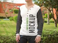 2 Free V-neck Sweater PSD MockUps in 4k