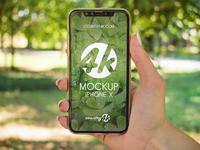 2 Free iPhone X PSD MockUps in 4k