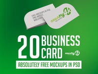 20 Absolutely Free Photo-Realistic Business Card MockUps in PSD
