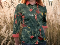 Free Women Blouse T-shirt PSD MockUp in 4k
