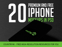 20 Premium and Free Photo-Realistic iPhone MockUps in PSD